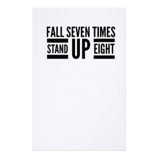 Stand up stationery
