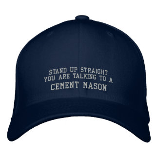 Stand up straight embroidered baseball caps