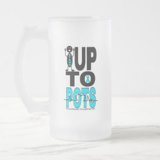 Stand Up To POTS Frosted Glass Beer Mug