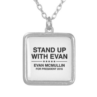 Stand Up With Evan Silver Plated Necklace