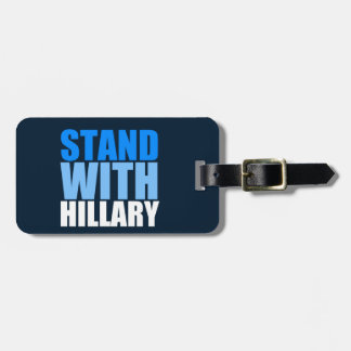 Stand with Hillary Blue Luggage Tag