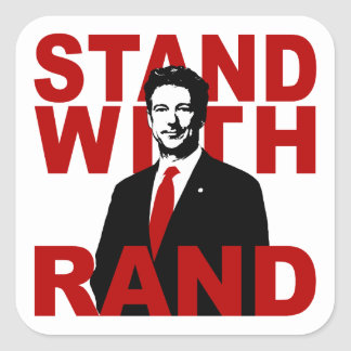 Stand With Rand Square Sticker