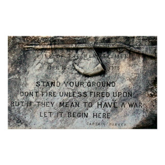 STAND YOUR GROUND 1775 POSTER