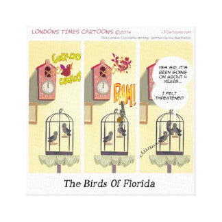 Stand Your Ground Birds Of Fl Funny Canvas Print
