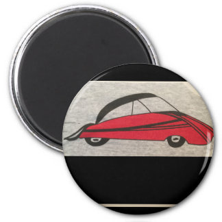 "standard 2 1/4"" round button with car magnet"