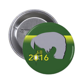Standard, 2¼ Inch Round Button Jill 2016 Graphic