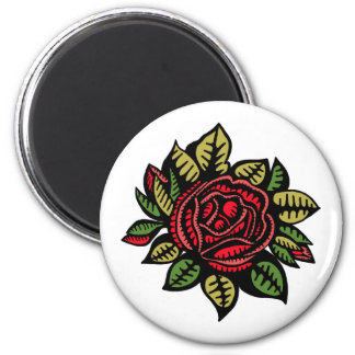 Standard, 2¼ Inch Round Magnet with rose
