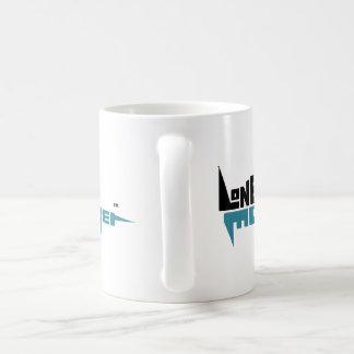 Standard 325 ml White Mug with Black and Teal Logo
