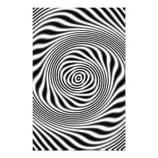 standard black and white abestrato personalized stationery