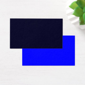Standard Business Card Dark Blue-Royal Blue