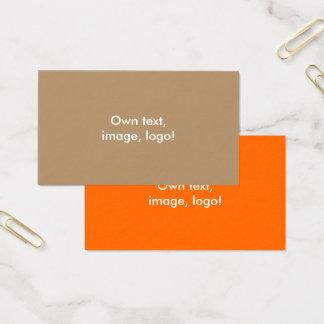 Standard Business Card Gold-Orange