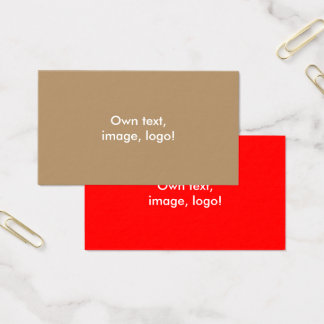 Standard Business Card Gold-Red