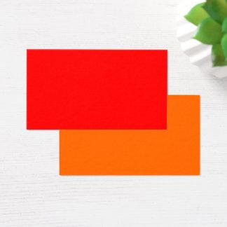 Standard Business Card Red-Orange