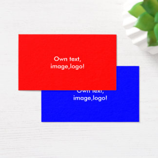 Standard Business Card Red-Royal Blue