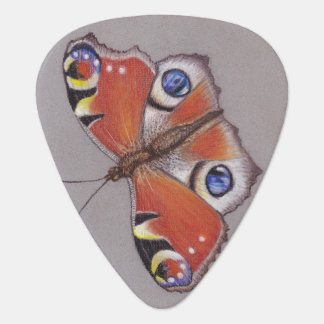 Standard Guitar Pick with Peacock Butterfly Design