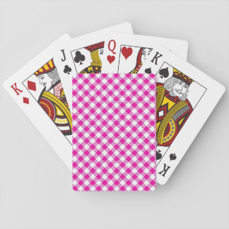 Standard Index Playing Cards Pink - White Gingham