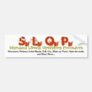 Standard Liberal Operating Procedure Bumper Sticke Bumper Sticker