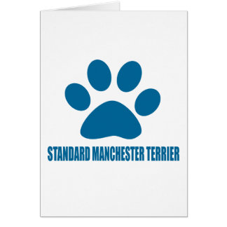 STANDARD MANCHESTER TERRIER DOG DESIGNS CARD
