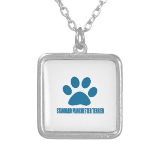 STANDARD MANCHESTER TERRIER DOG DESIGNS SILVER PLATED NECKLACE