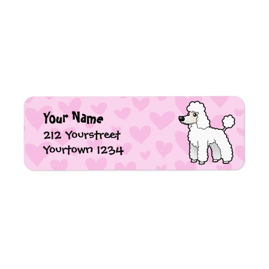 Standard/Miniature/Toy Poodle Love (puppy cut) Return Address Label