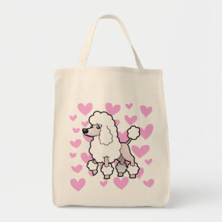 Standard/Miniature/Toy Poodle Love (show cut) Tote Bag