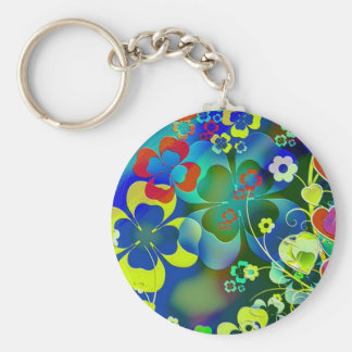 standard of clovers and flowers key chain