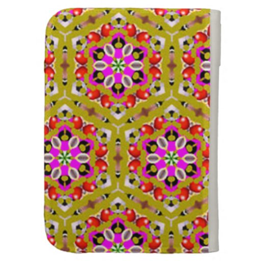standard of flowers geometric forms kindle cases