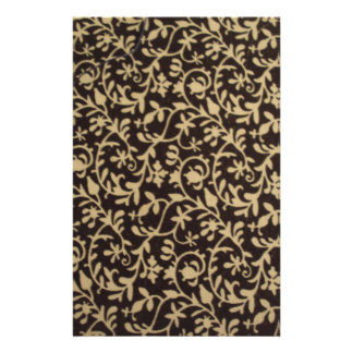 standard of flowers the black person and white stationery design