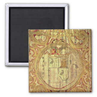 Standard of Francisco Pizarro Square Magnet