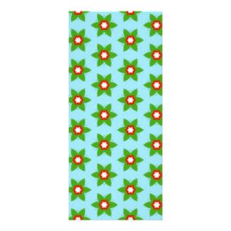 standard of green flowers rack card template