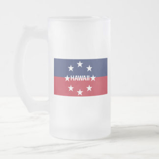 Standard of the governor of Hawaiʻi Frosted Glass Beer Mug