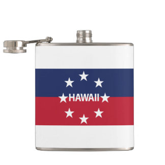 Standard of the governor of Hawaiʻi Hip Flask