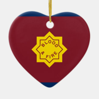 Standard Of The Salvation Army, religious flag Ceramic Ornament