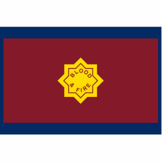 Standard Of The Salvation Army, religious flag Standing Photo Sculpture