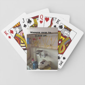 Standard Playing cards with text