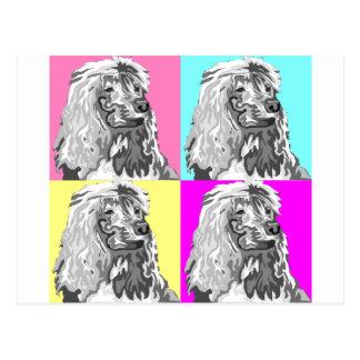 Standard Poodle Does Pastel Postcard