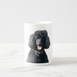 Standard Poodle dog black beautiful photo portrait Tea Cup