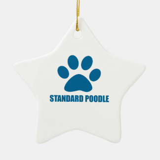 STANDARD POODLE DOG DESIGNS CERAMIC ORNAMENT