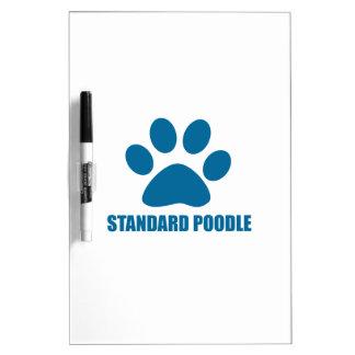 STANDARD POODLE DOG DESIGNS DRY ERASE BOARD