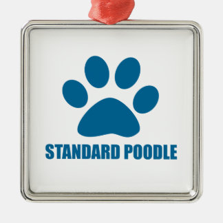 STANDARD POODLE DOG DESIGNS METAL ORNAMENT