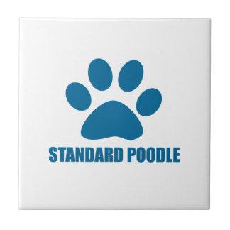 STANDARD POODLE DOG DESIGNS TILE