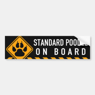 Standard Poodle On Board Bumper Sticker