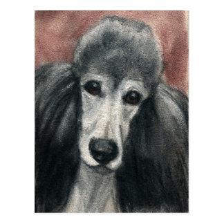 Standard Poodle Original Dog Art Postcard