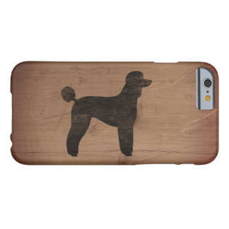 Standard Poodle Silhouette Rustic Barely There iPhone 6 Case