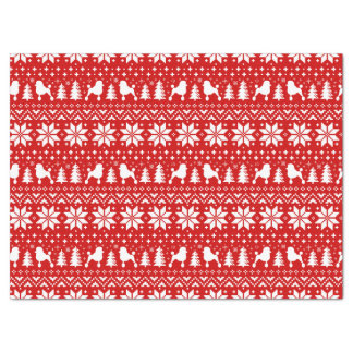 Standard Poodle Silhouettes Christmas Pattern Tissue Paper