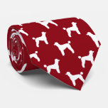 Standard Poodle Silhouettes Pattern Tie
