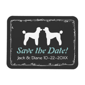 Standard Poodle Silhouettes Wedding Save the Date Magnet
