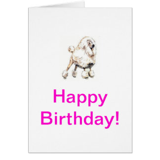 Standard Poodle White Card