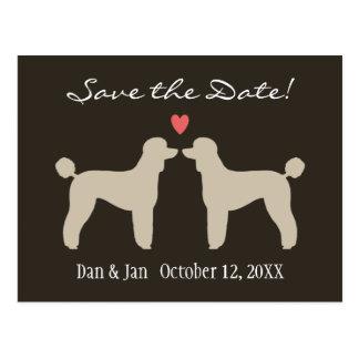 Standard Poodles Wedding Save the Date Postcard