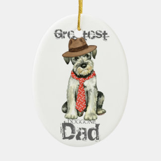 Standard Schnauzer Dad Ceramic Ornament